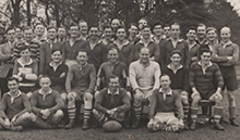 The 1947 Rugby team, coached by Mr Pacey