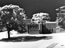 Architects model of the John Hayward Library